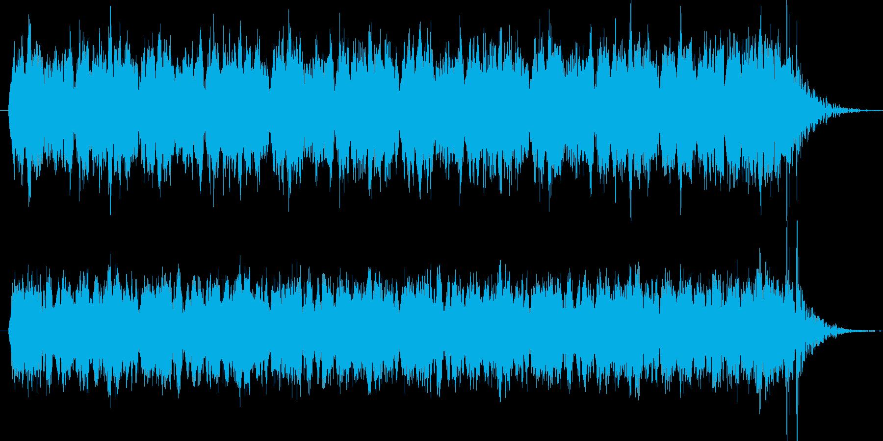 ホラー映画にありそうな聖歌隊BGMの再生済みの波形