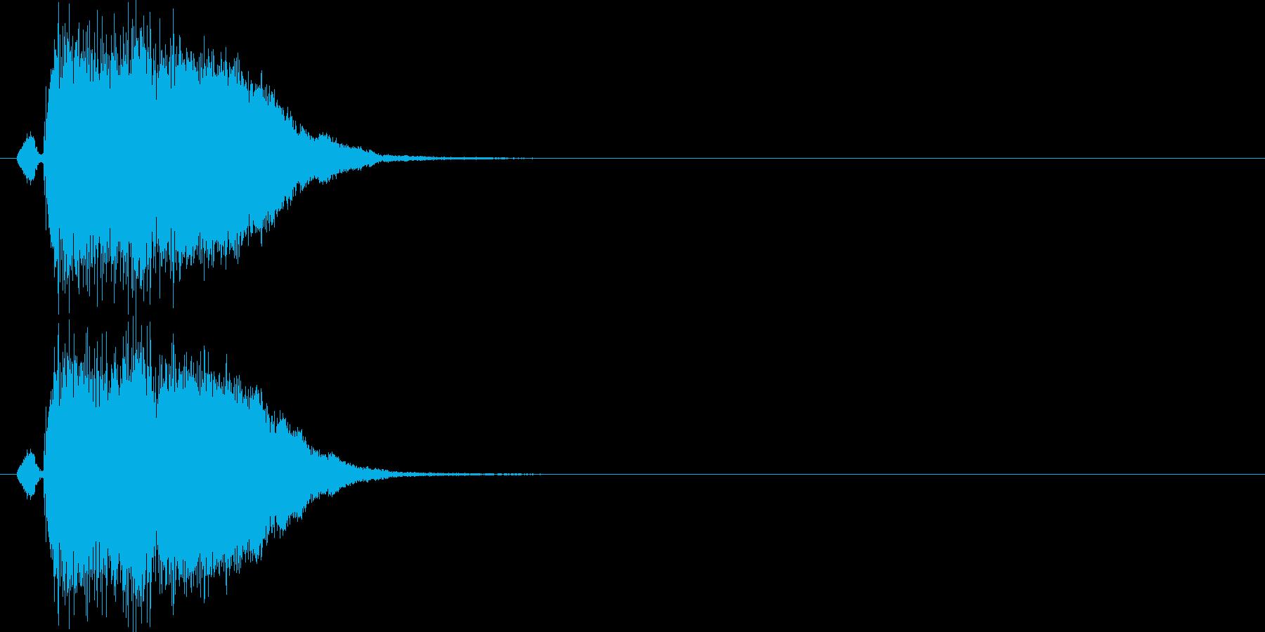 シャキーン(斬撃、決定、演出)の再生済みの波形