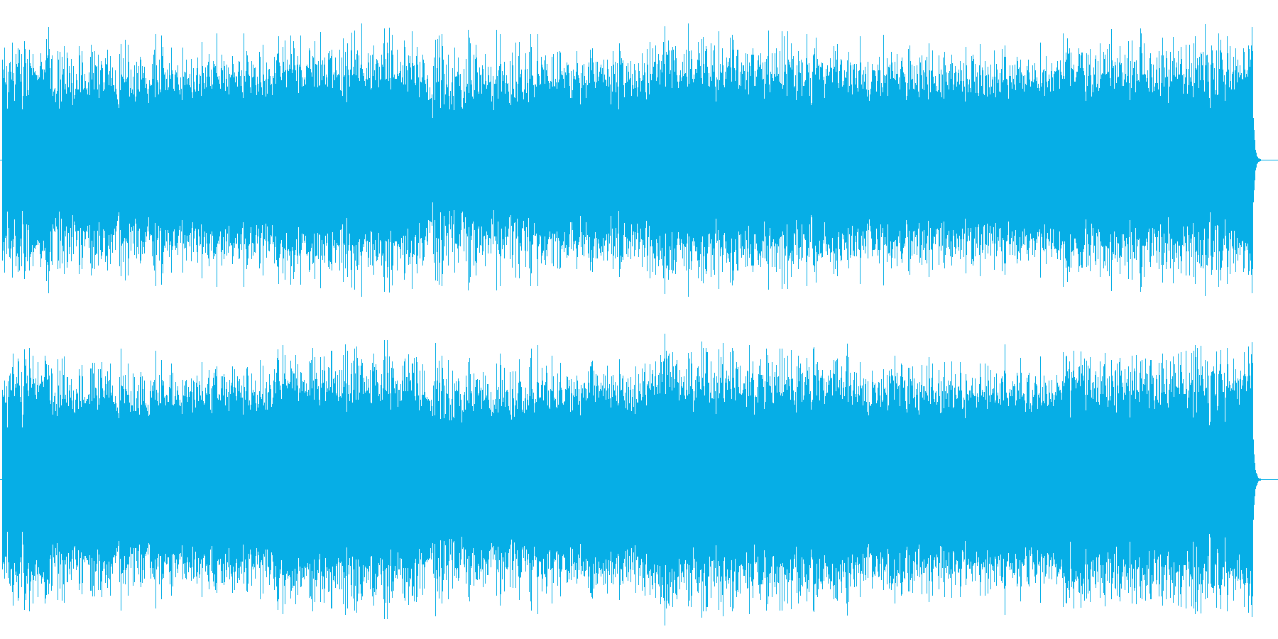爽やかポップス(エンディング向け)の再生済みの波形