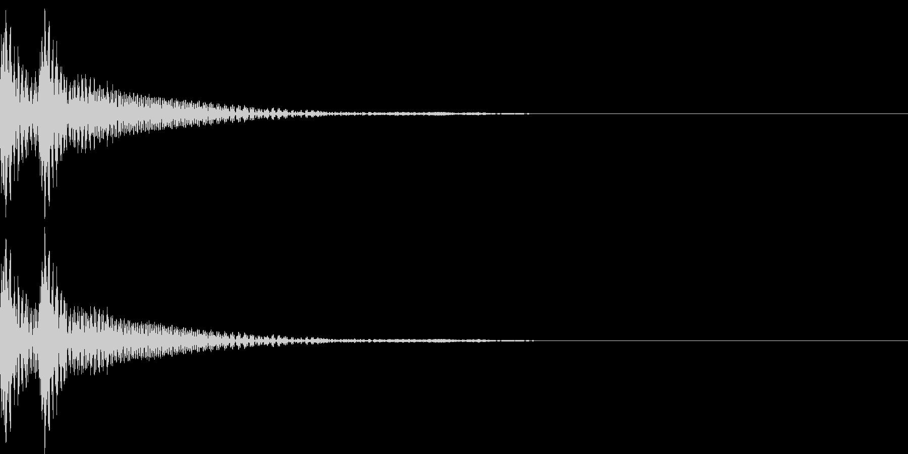 和風「ドドン」大太鼓+当り鉦+大鼓 通常の未再生の波形