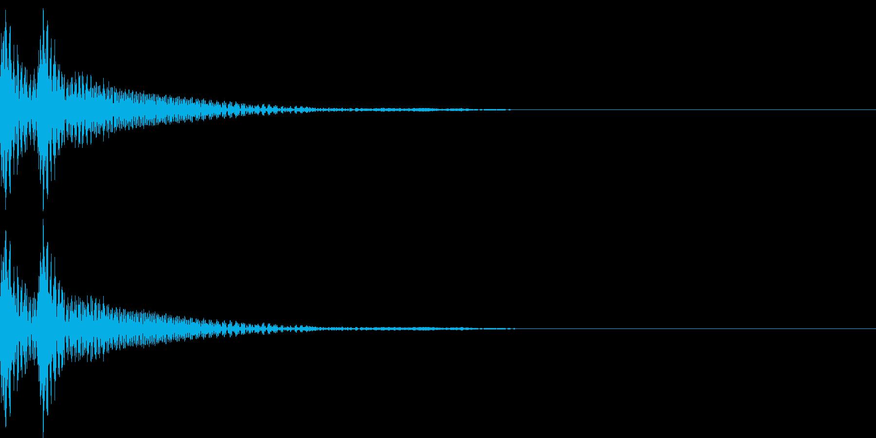 和風「ドドン」大太鼓+当り鉦+大鼓 通常の再生済みの波形