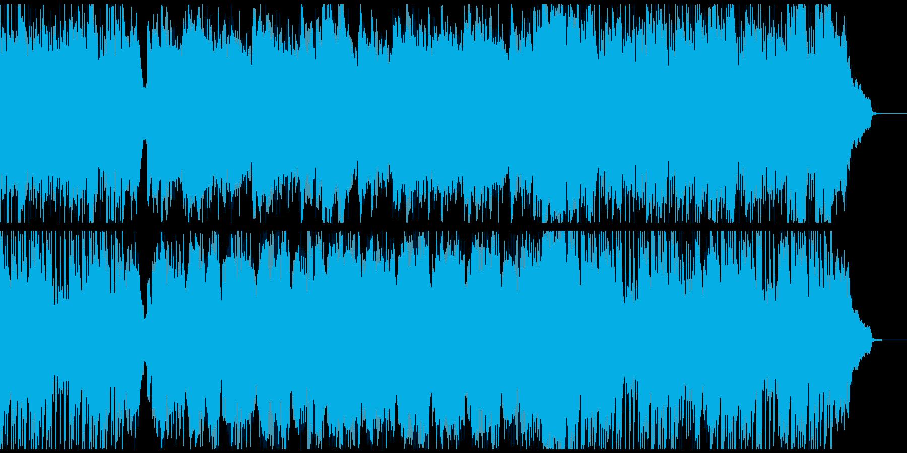 明るく力強く、活気のあるピアノ・ソロの再生済みの波形