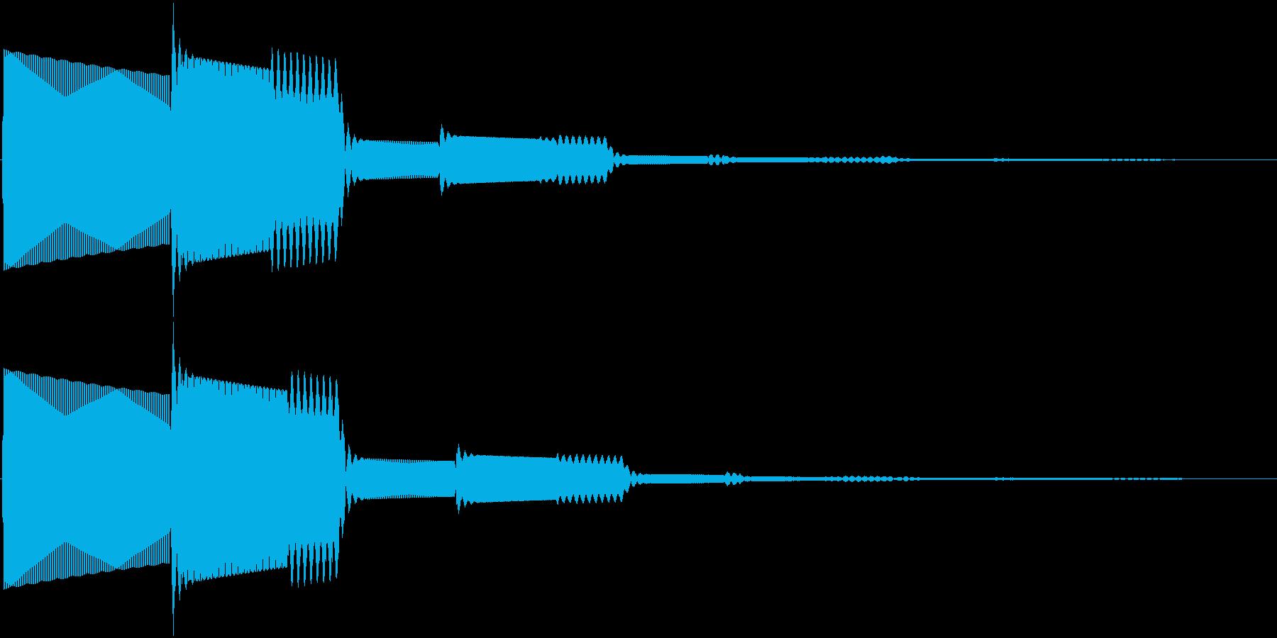ピコン音の再生済みの波形