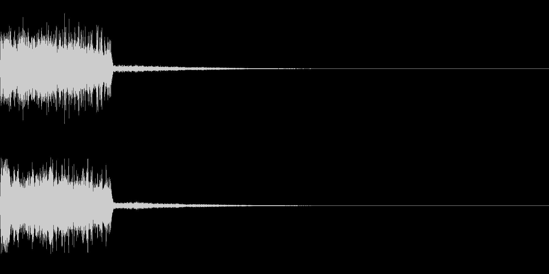 レベルアップの効果音の未再生の波形