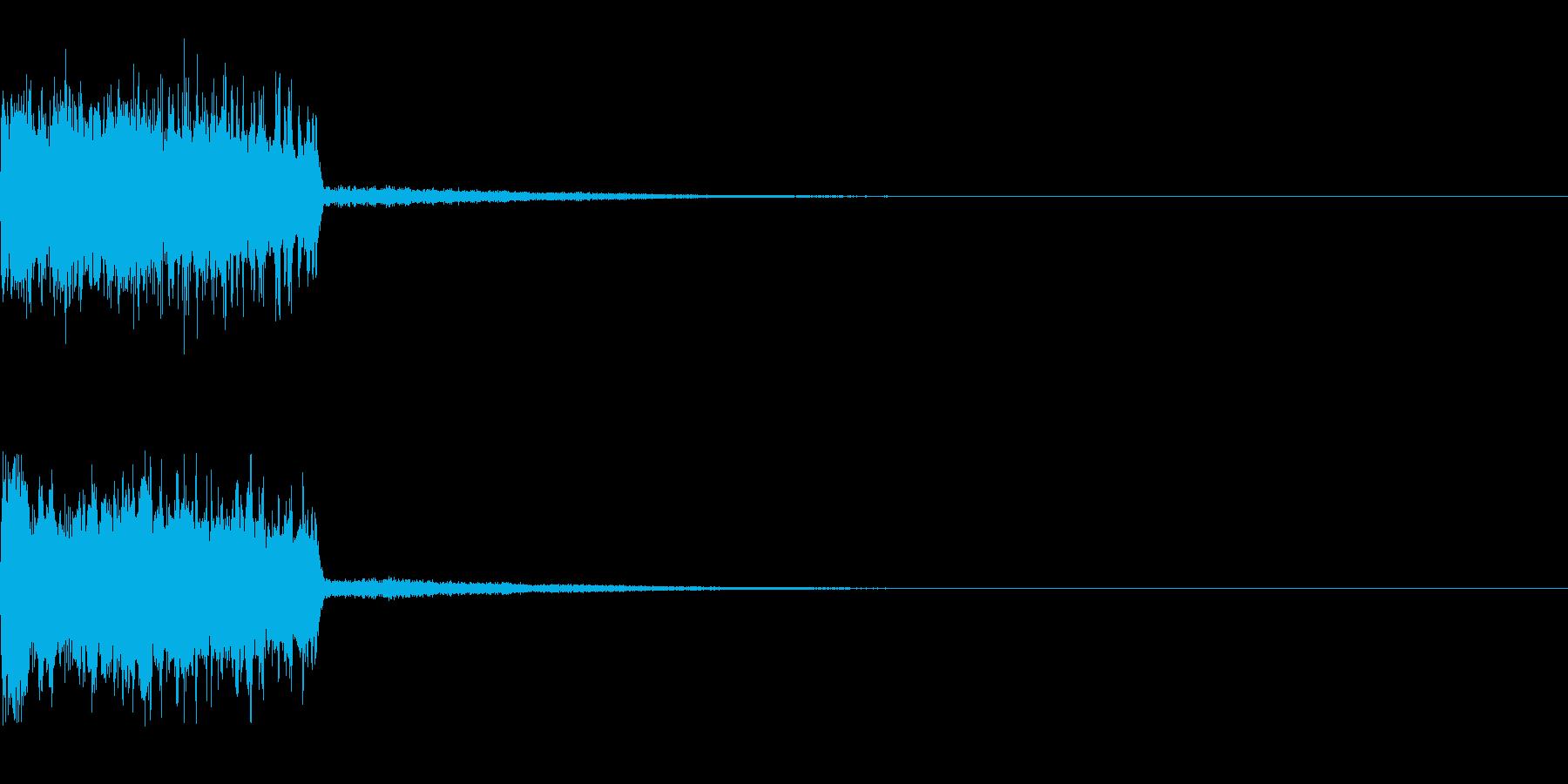 レベルアップの効果音の再生済みの波形