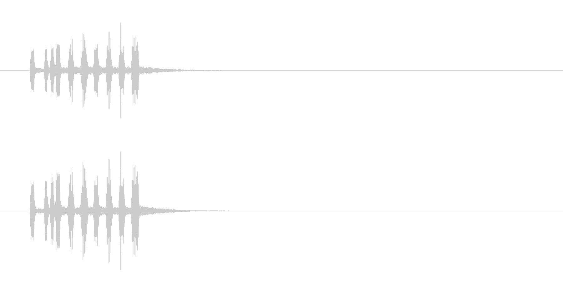 ジングル(ファンファーレ風)の未再生の波形