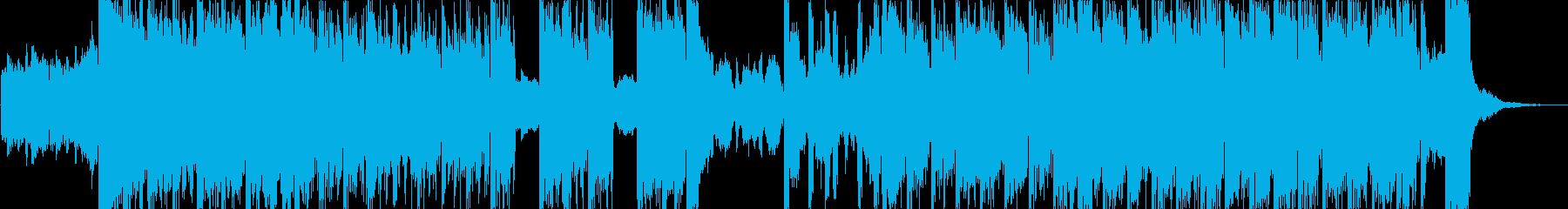 コミカルで音が強烈なハロウィンの再生済みの波形