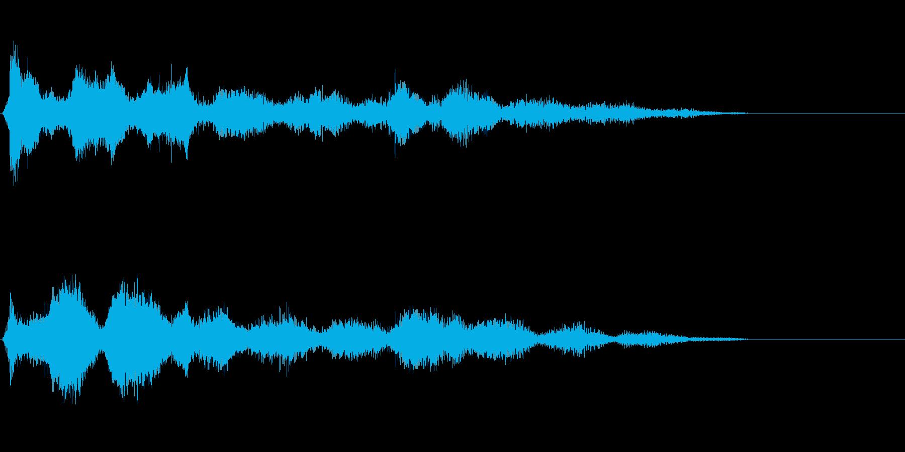 不気味で奇妙なノイズの再生済みの波形