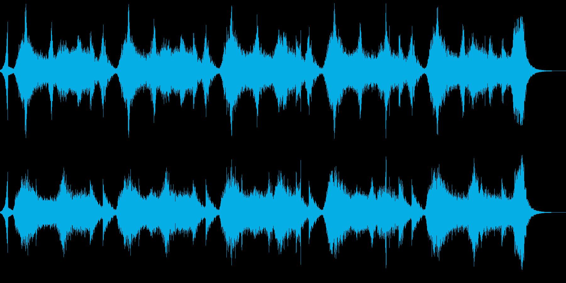 1分23秒ソング 恐怖せまるコーラスの再生済みの波形