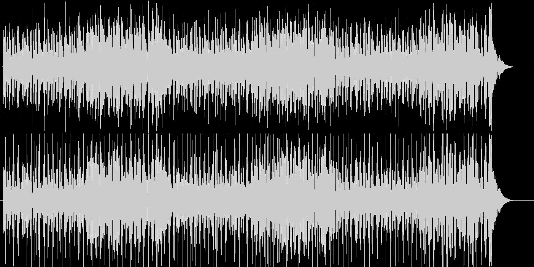 ゆったりとした南国風のボサノバの未再生の波形