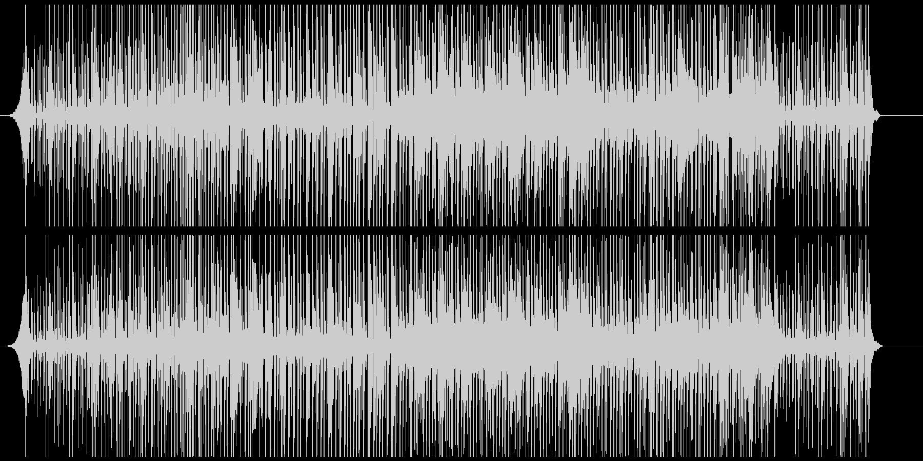 印象に残る手拍子とドラムだけの迫力リズムの未再生の波形