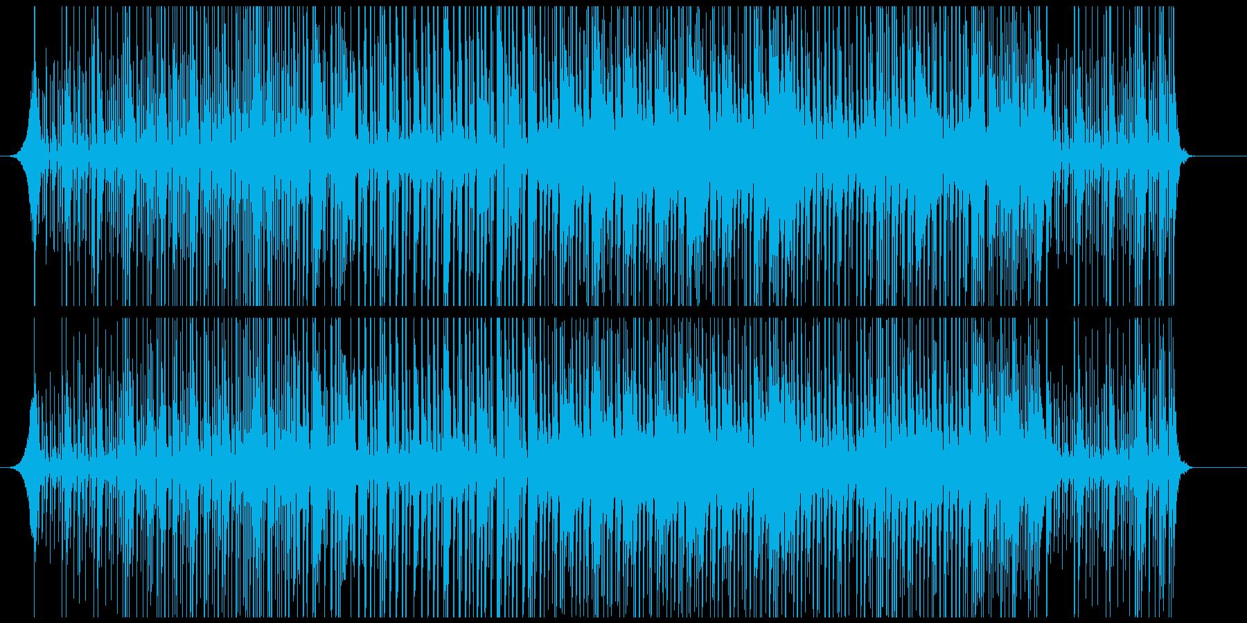 印象に残る手拍子とドラムだけの迫力リズムの再生済みの波形