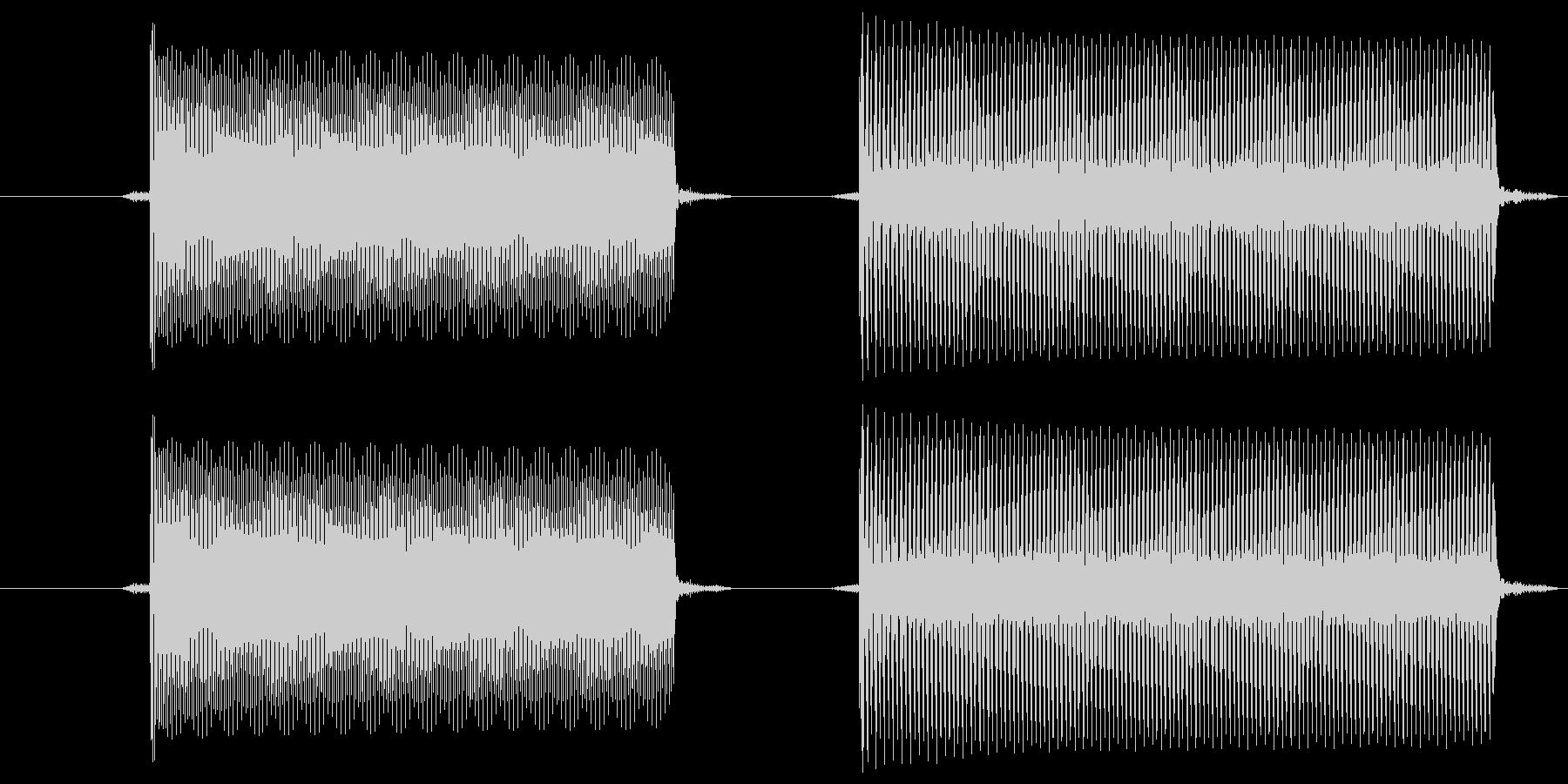 ピポ(電子音・ビープ音)の未再生の波形