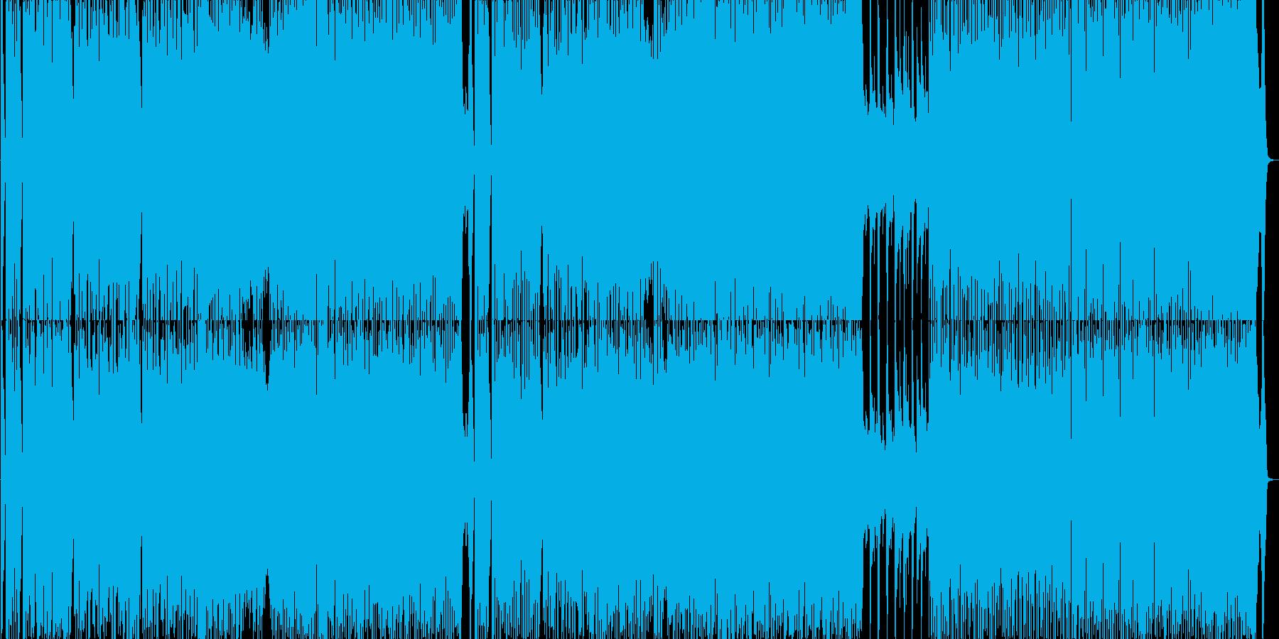 ファンキーなブラスの派手なポップスの再生済みの波形