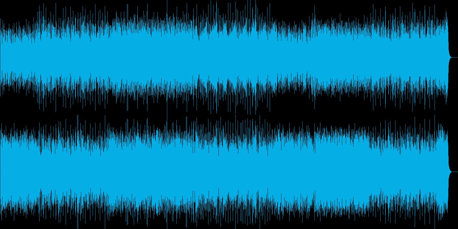 緊張感をもったストリングスロックの再生済みの波形