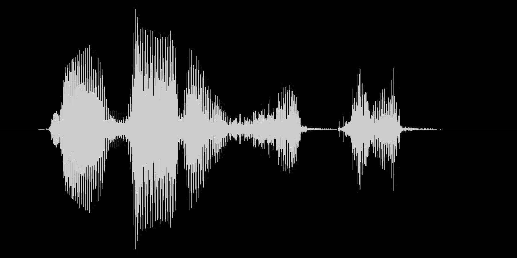 レベル8(はち)の未再生の波形