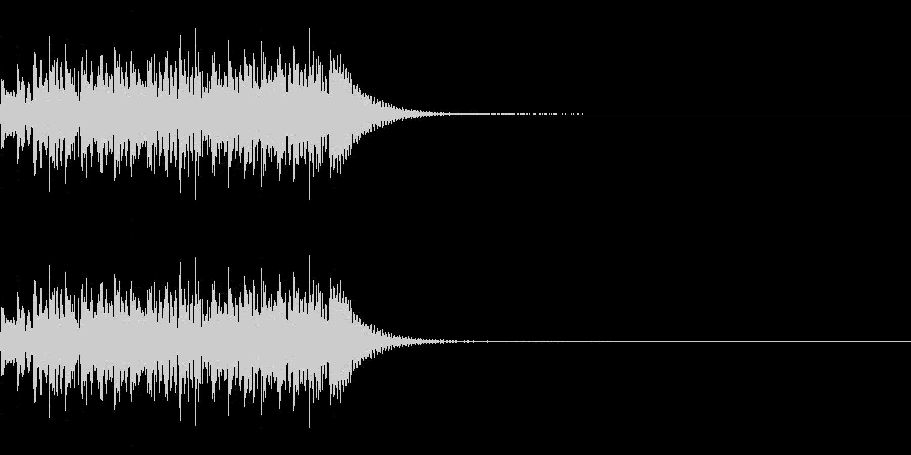 シンプルな効果音 マリンバの不思議音の未再生の波形