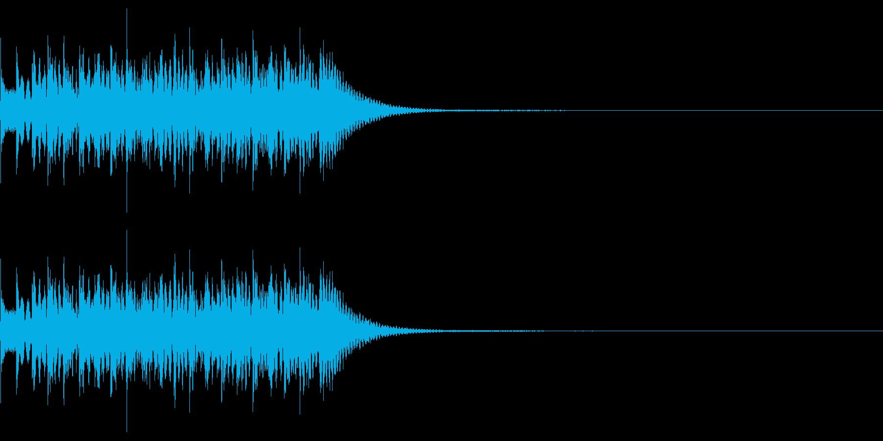 シンプルな効果音 マリンバの不思議音の再生済みの波形