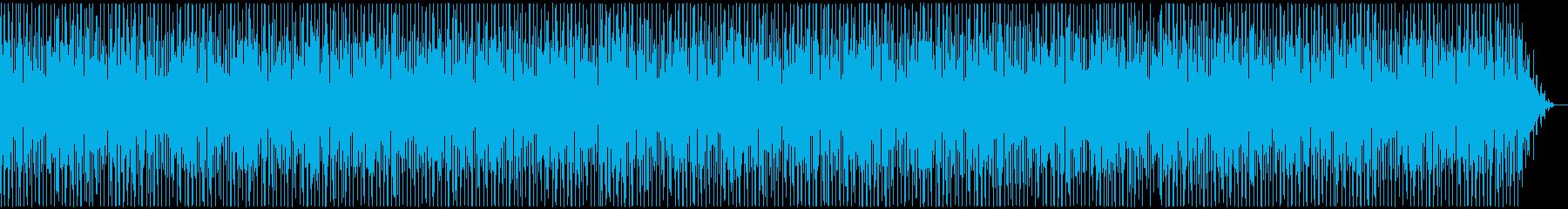 明るく朝を思わすボサノバジャズの曲の再生済みの波形