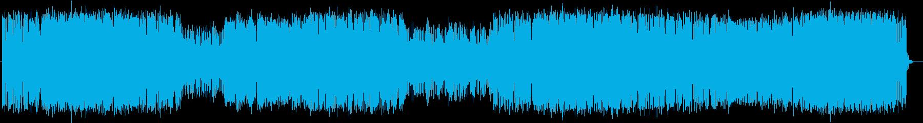 疾走感とシリアスなシンセサイザーサウンドの再生済みの波形