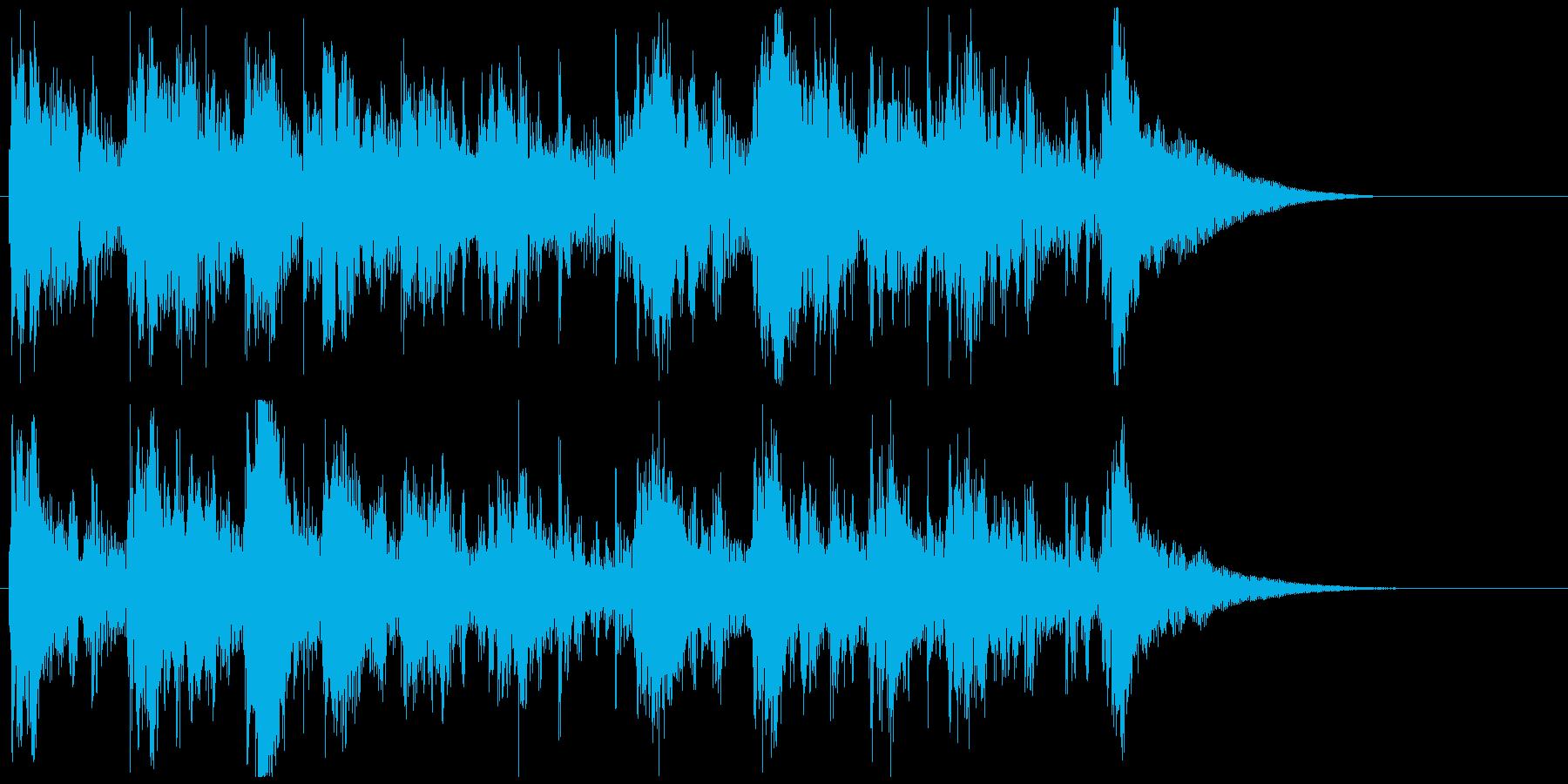 トロピカルな南国風ジングル アイキャッチの再生済みの波形