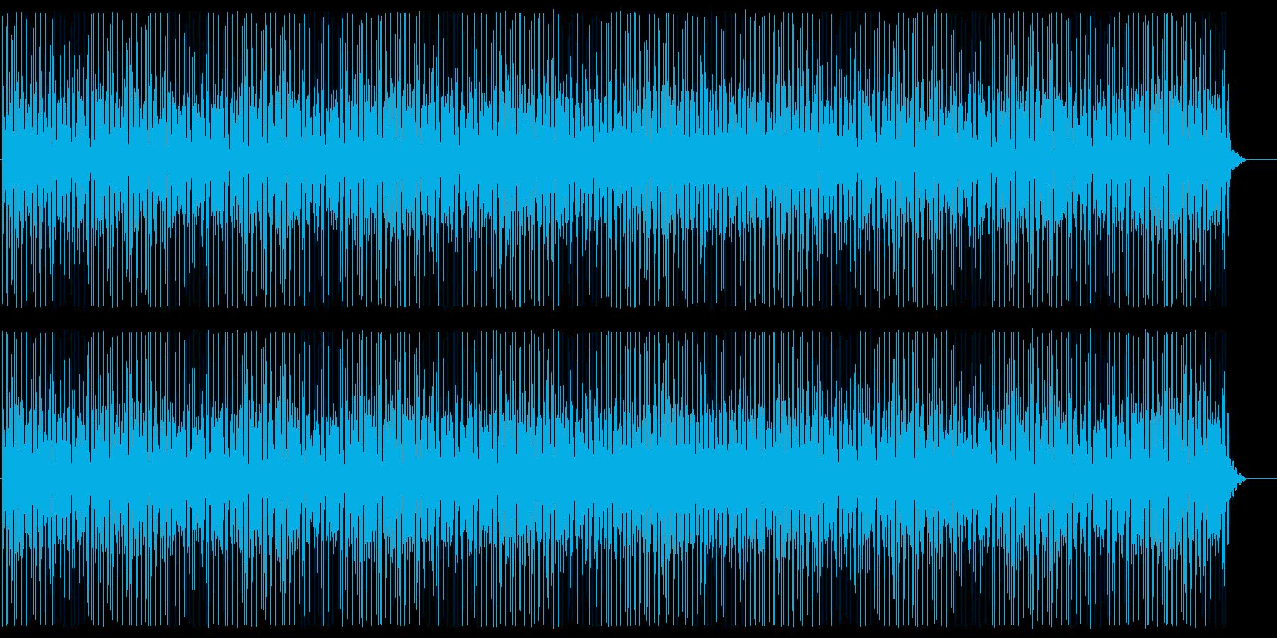 緩やかで穏やかなテクノビートサウンドの再生済みの波形
