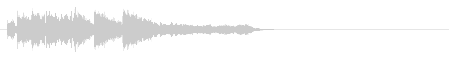 優雅で可憐なピアノジングルの未再生の波形