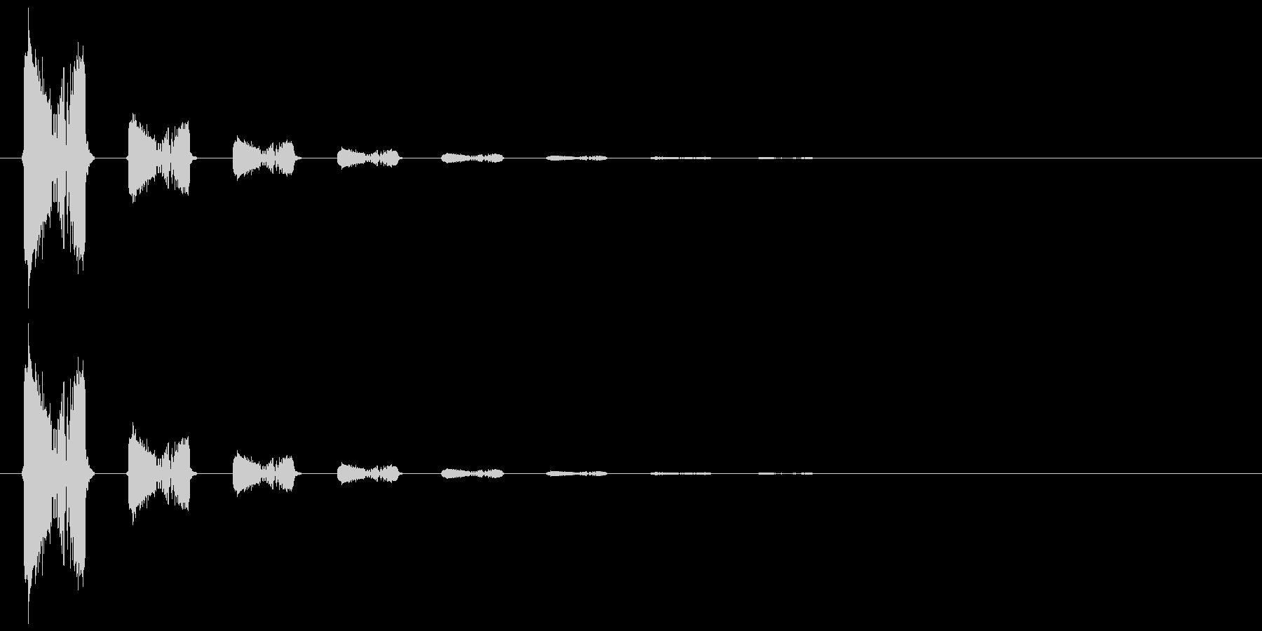 スウィッチ音2(ギュワッ)の未再生の波形