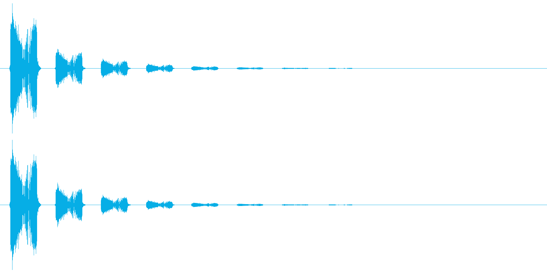 スウィッチ音2(ギュワッ)の再生済みの波形