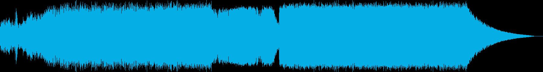 疾走感がある美しいドラムンベースの再生済みの波形