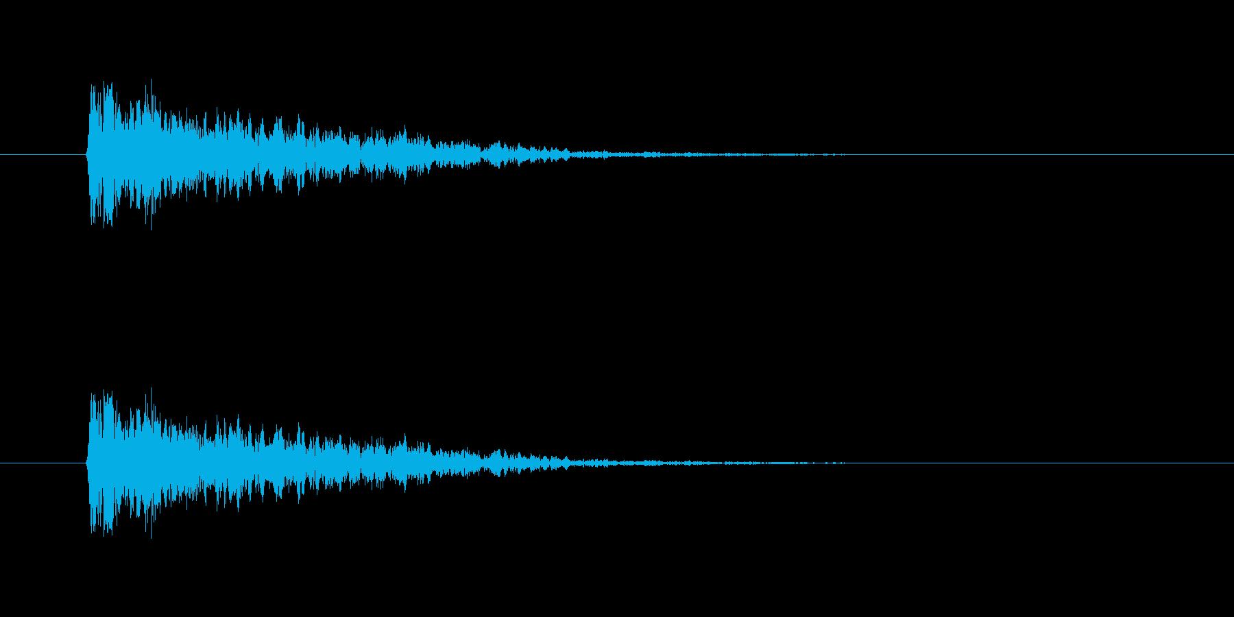【ネガティブ02-1】の再生済みの波形