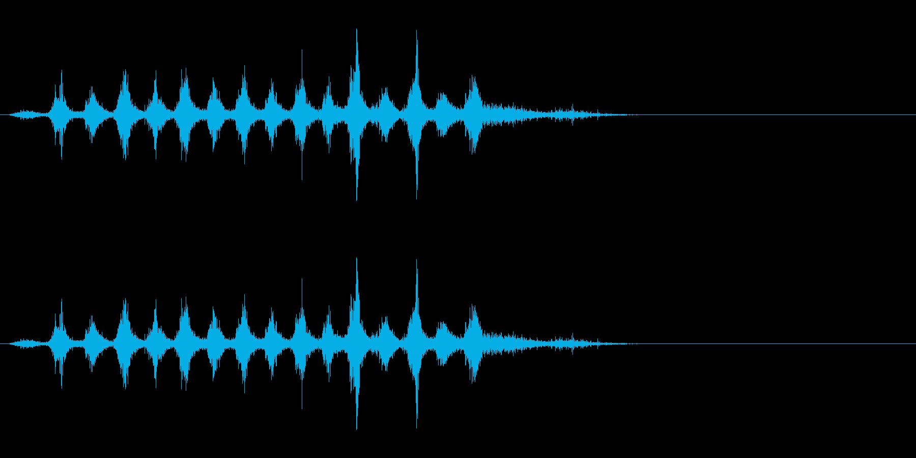 「シャカシャカ〜」木製シェイカーの振り音の再生済みの波形