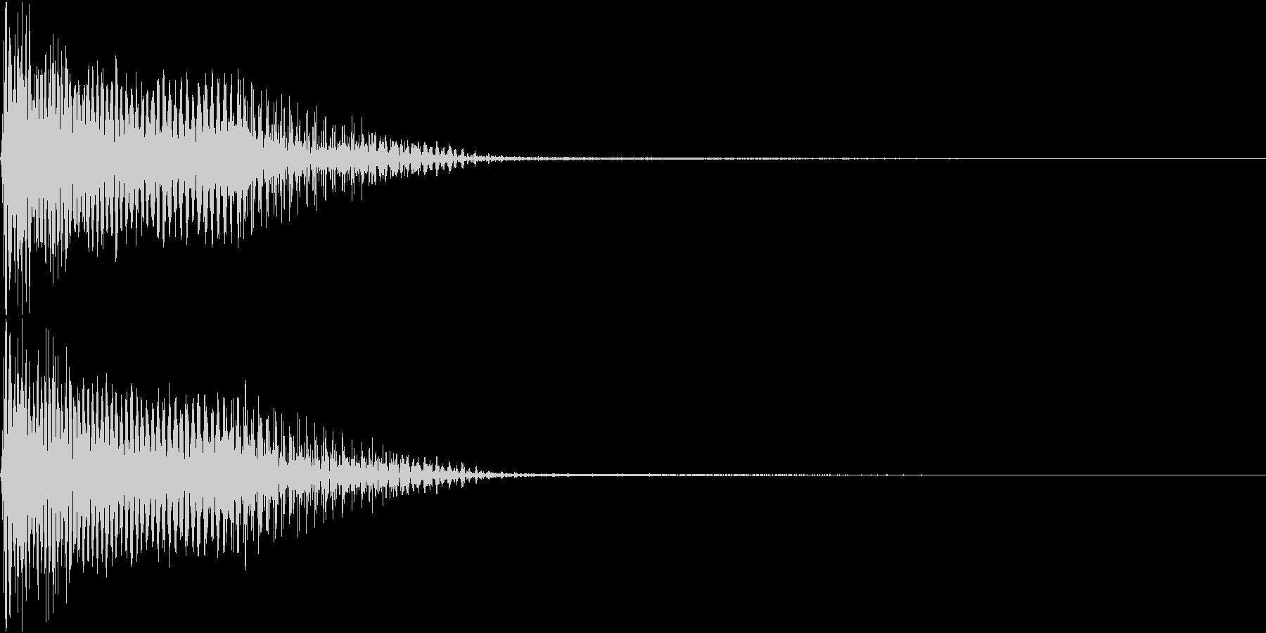 InvaderBuzz 発砲音 23の未再生の波形