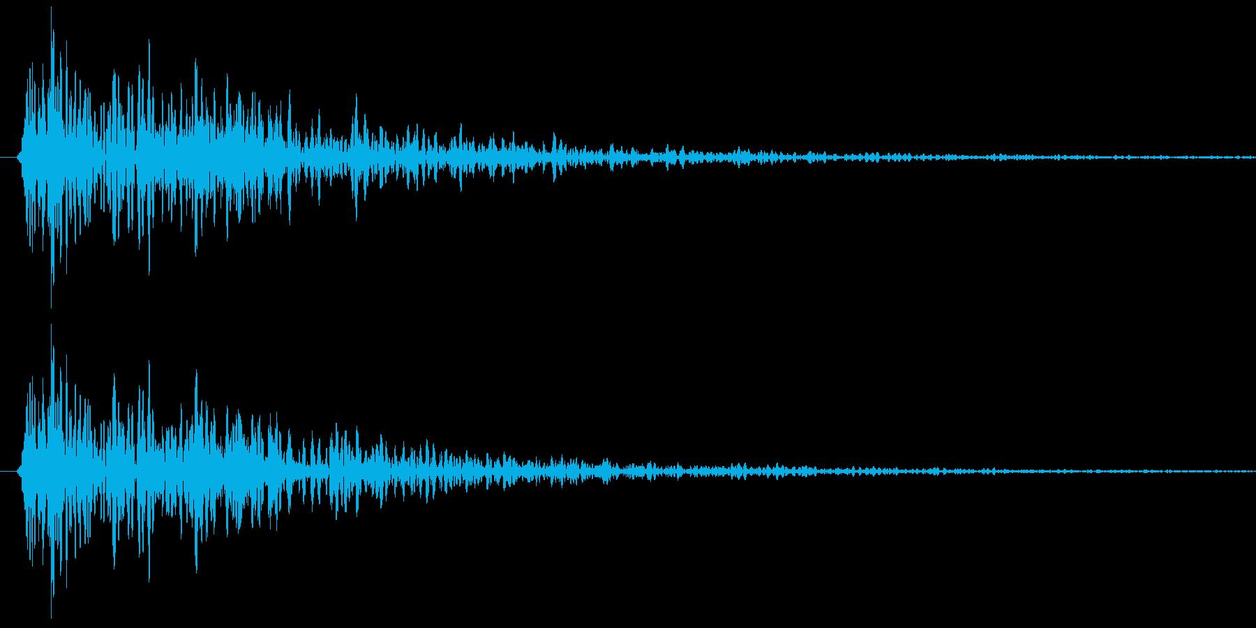 ガコン!という音です。の再生済みの波形