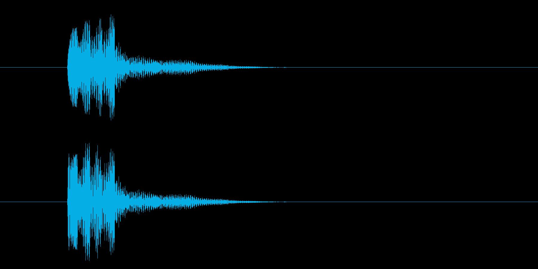 短いボタン音です。エラーボタンなど、否…の再生済みの波形