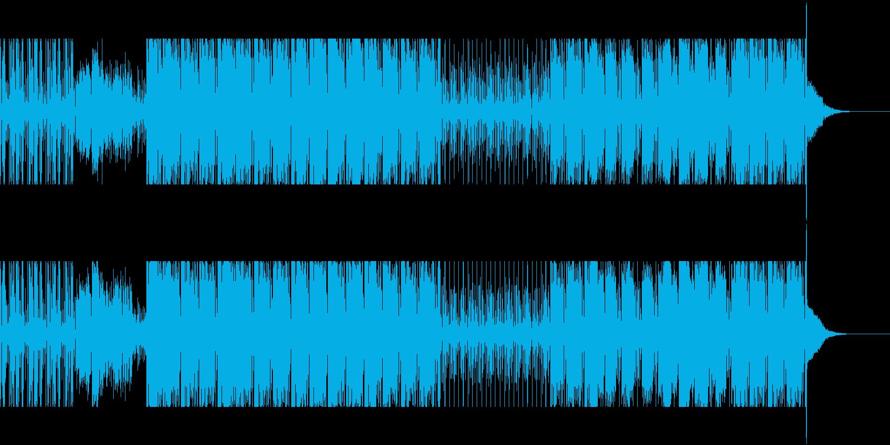 サックスを交えたリズムトラックの再生済みの波形