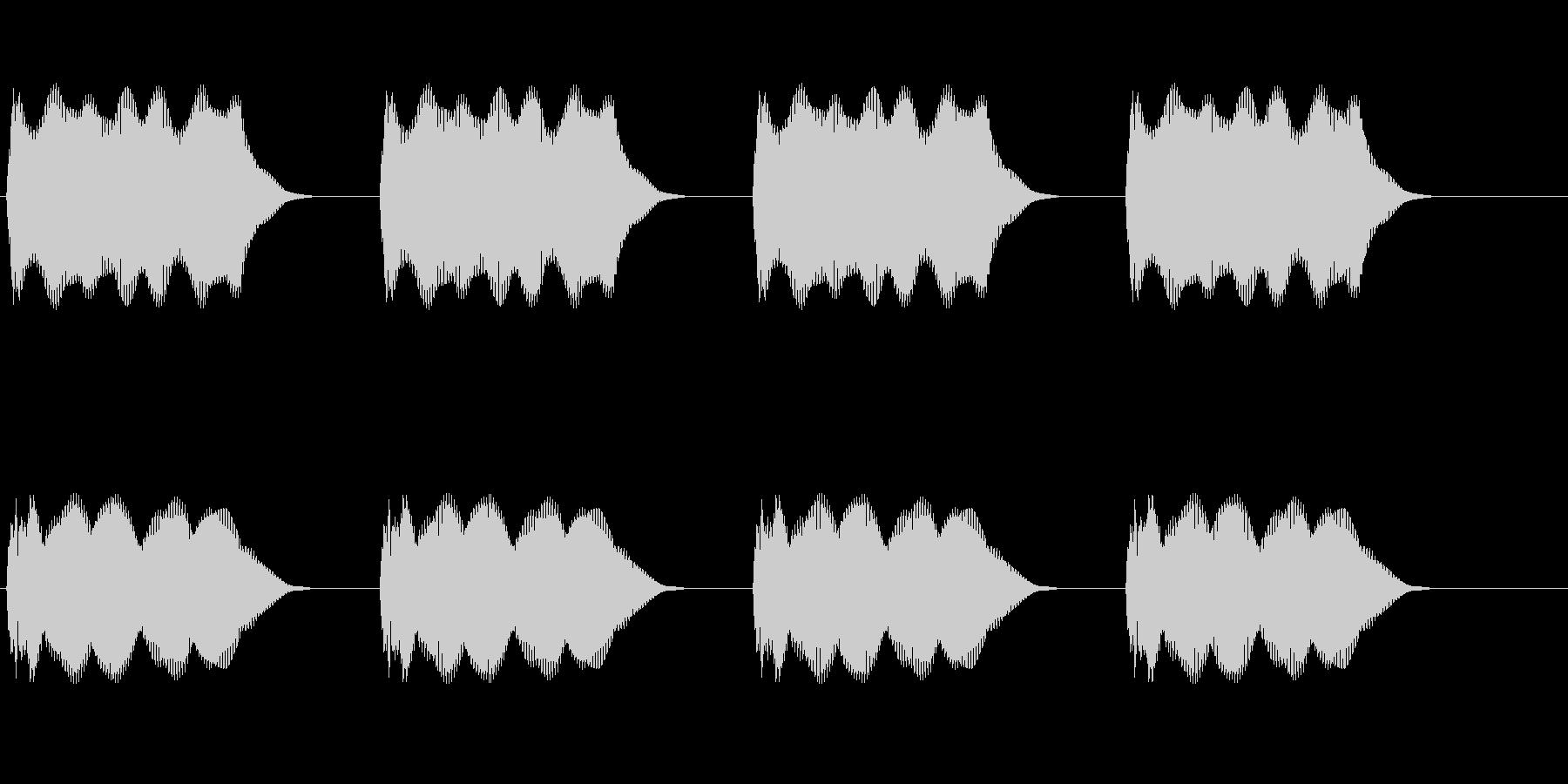 警報の未再生の波形