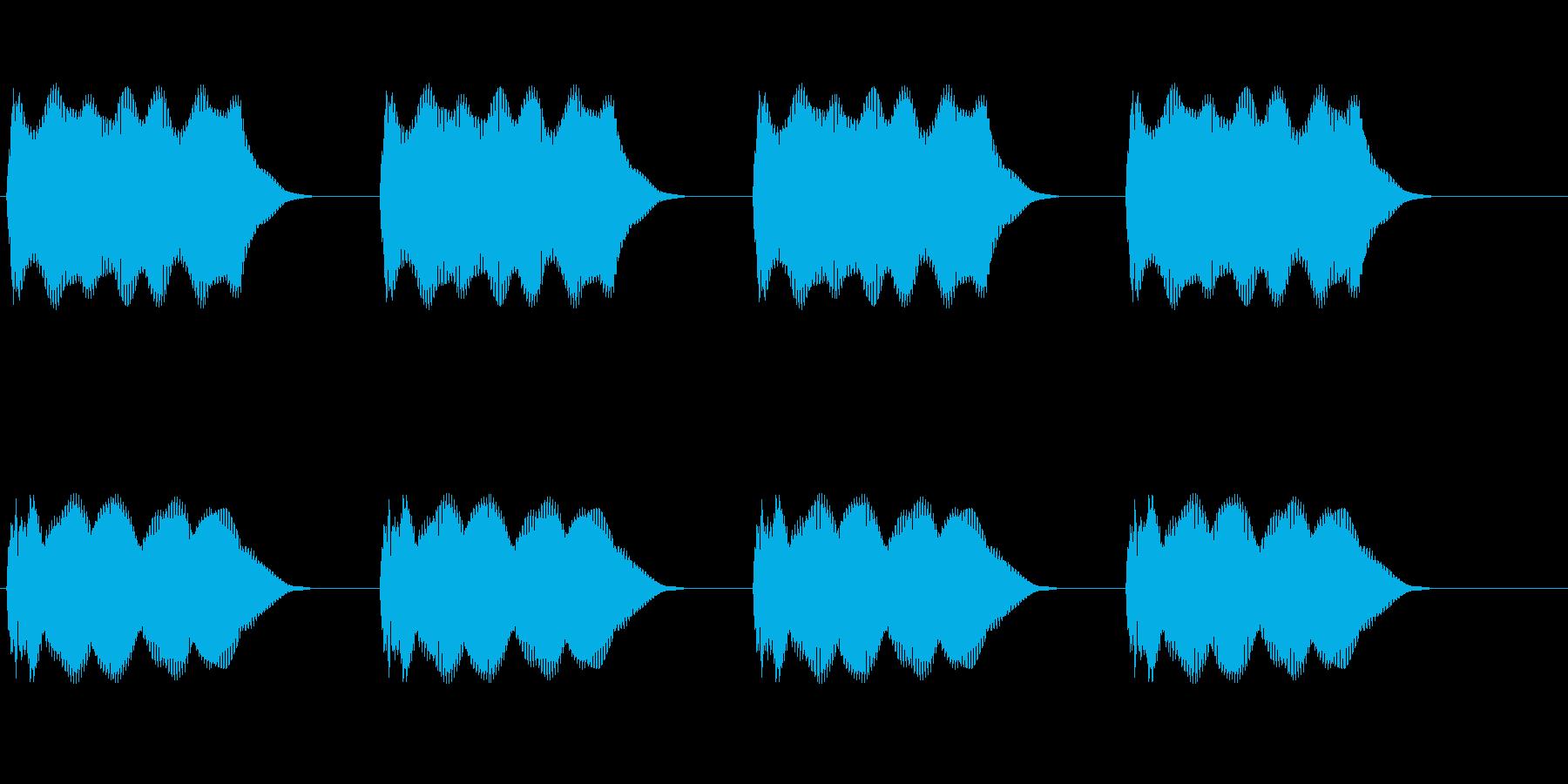 警報の再生済みの波形