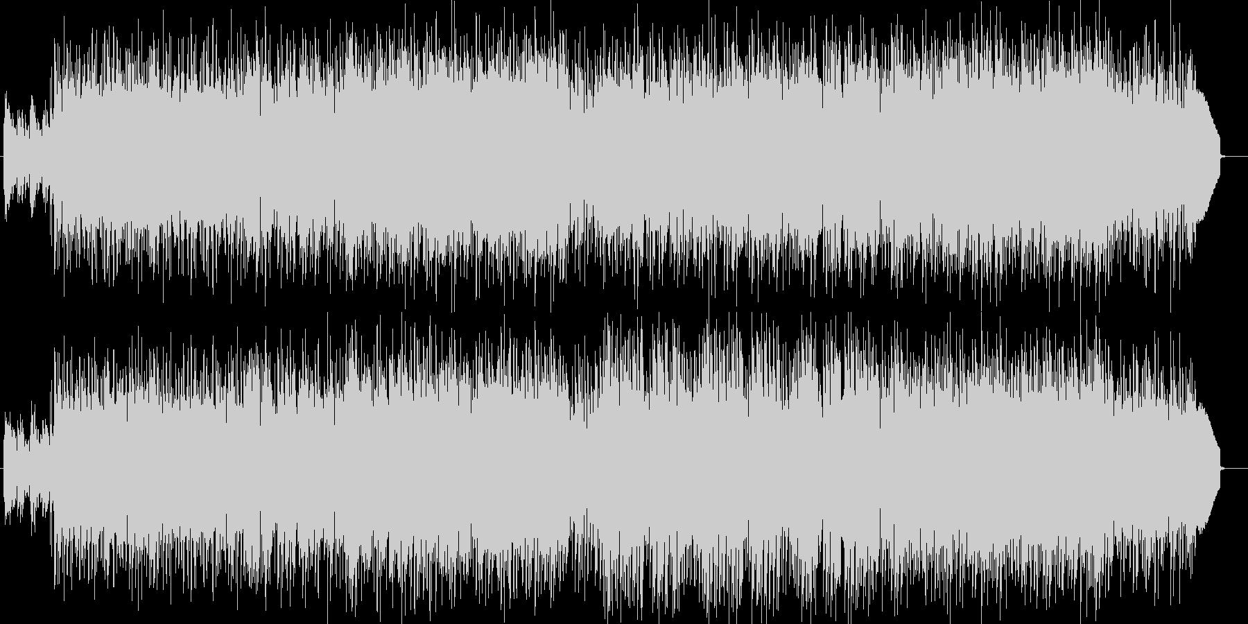 センチメンタルなギター・ドラム・シンセ曲の未再生の波形