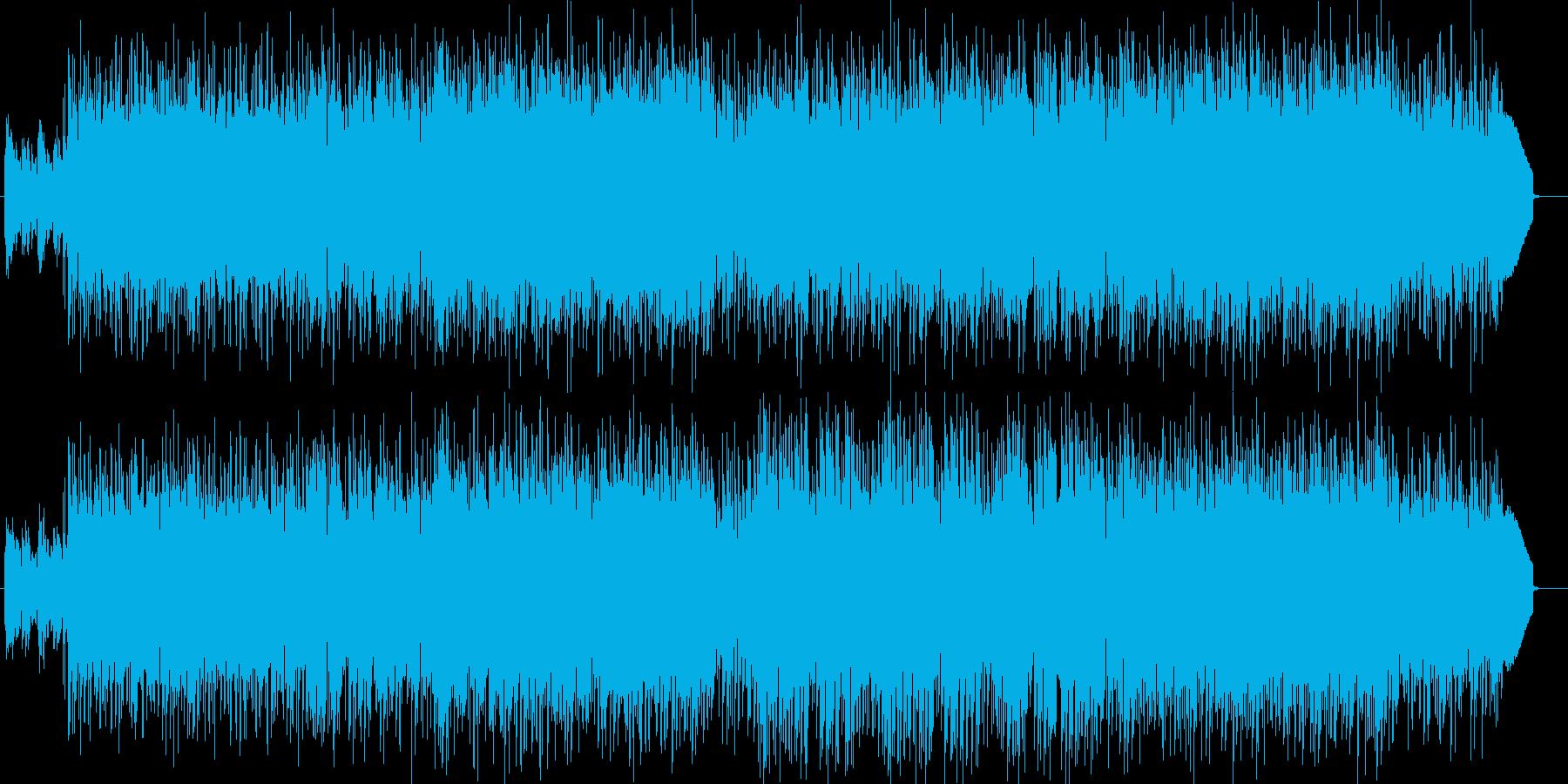 センチメンタルなギター・ドラム・シンセ曲の再生済みの波形