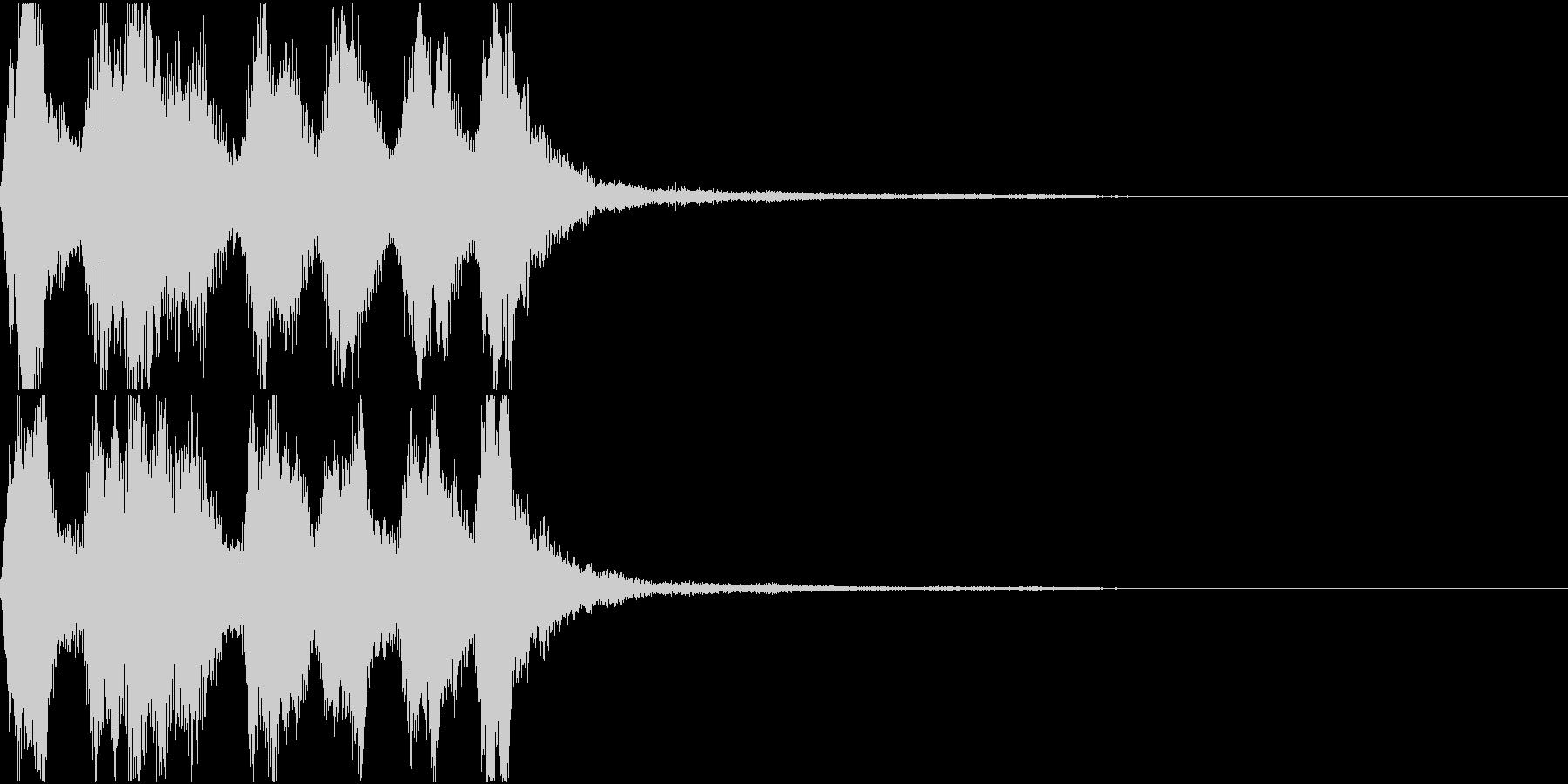 ラッパ ファンファーレ 定番 3の未再生の波形