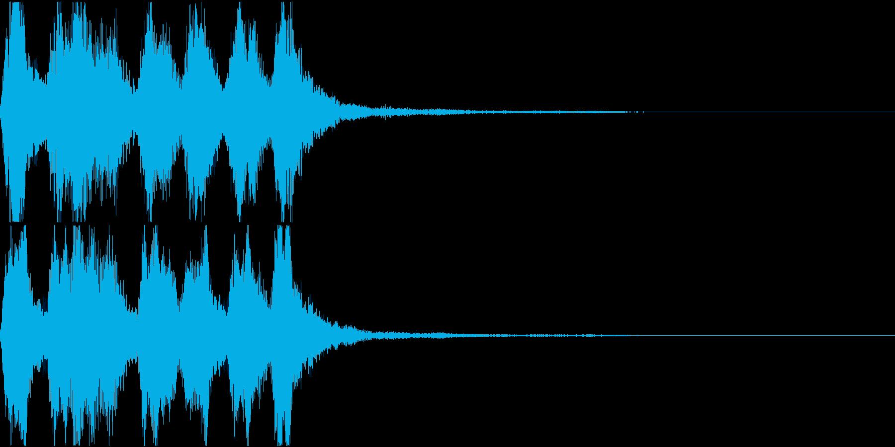 ラッパ ファンファーレ 定番 3の再生済みの波形