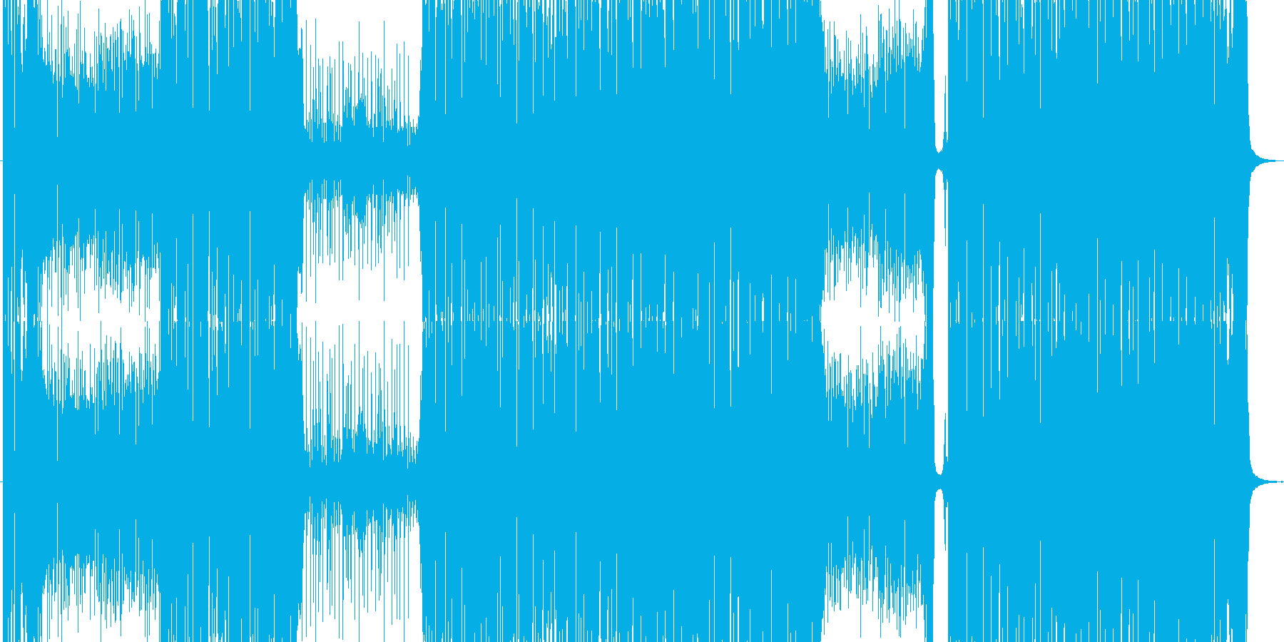 踊れるファンキーソングの再生済みの波形