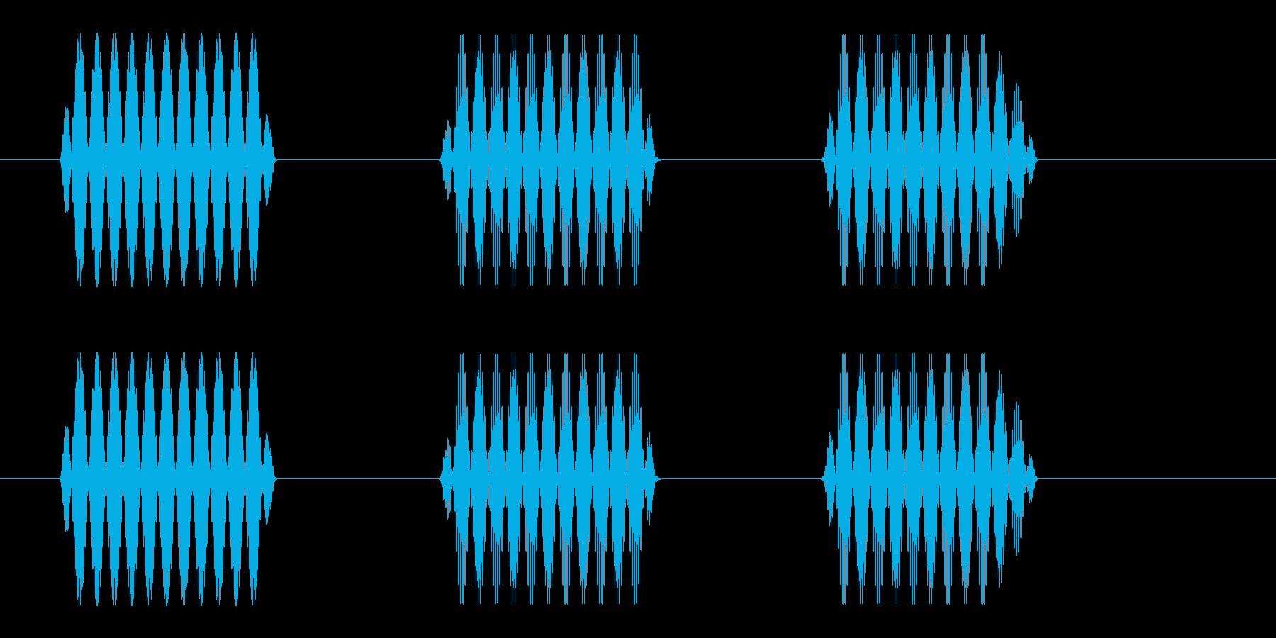 ピポポ(家電機器などの操作音)の再生済みの波形