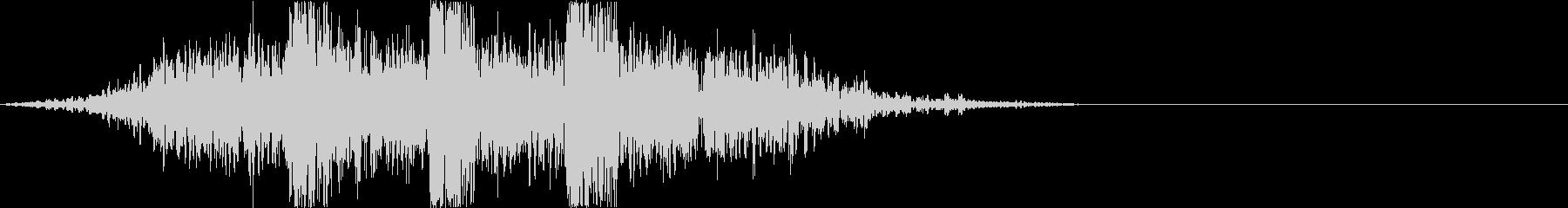 土魔法の音2(地震で攻撃するイメージ)の未再生の波形