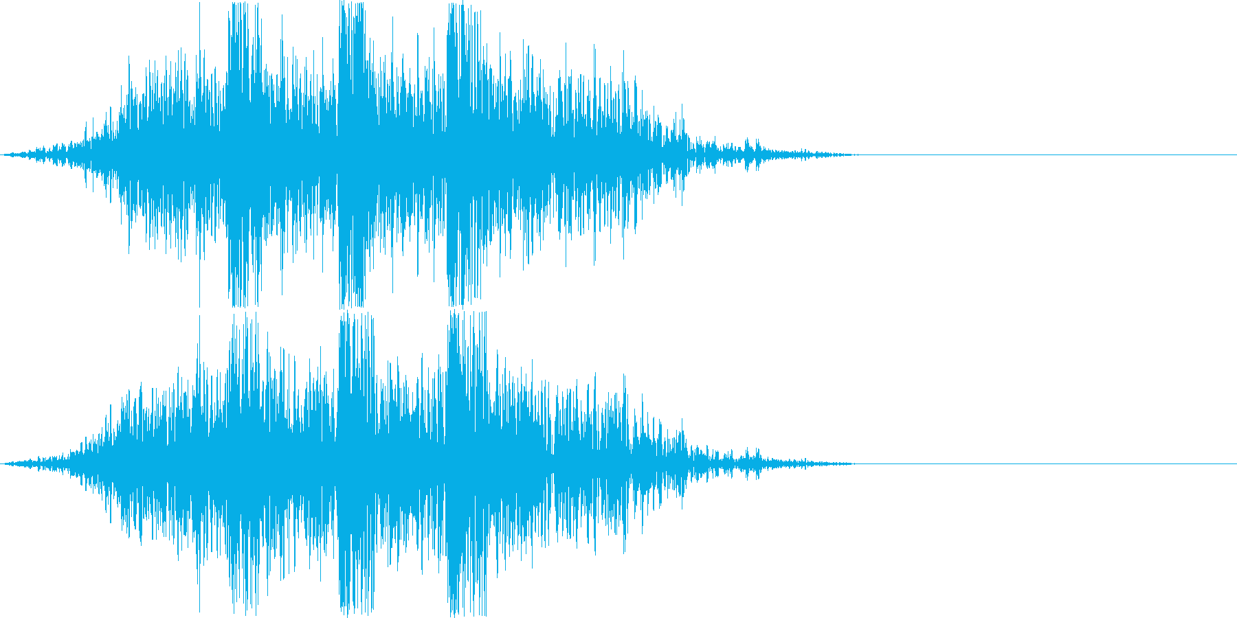 土魔法の音2(地震で攻撃するイメージ)の再生済みの波形