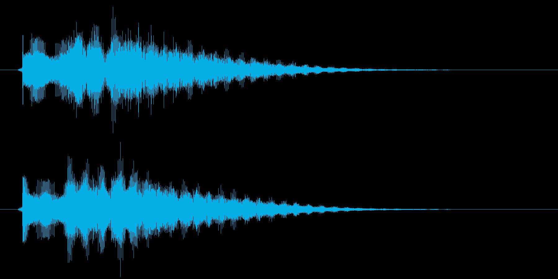 ボタン音の再生済みの波形