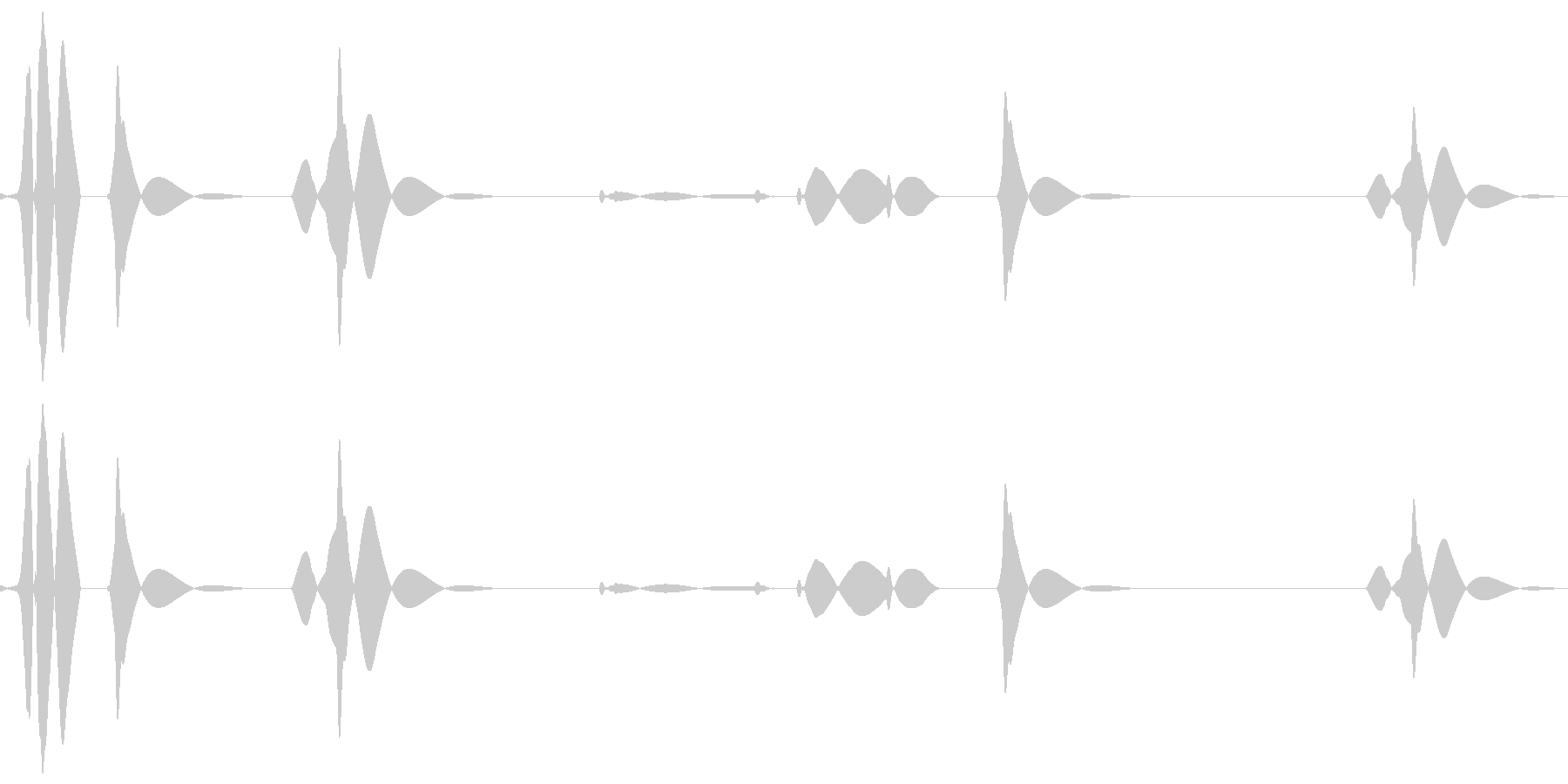 ブツッ:電話が切れる音の未再生の波形