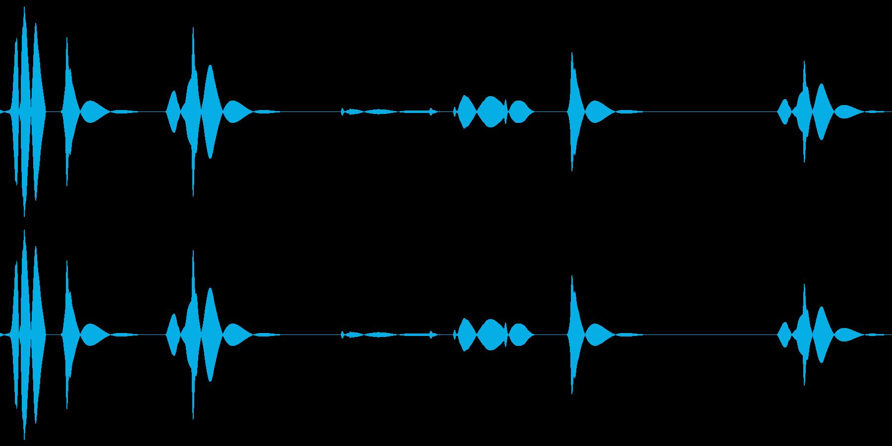 ブツッ:電話が切れる音の再生済みの波形