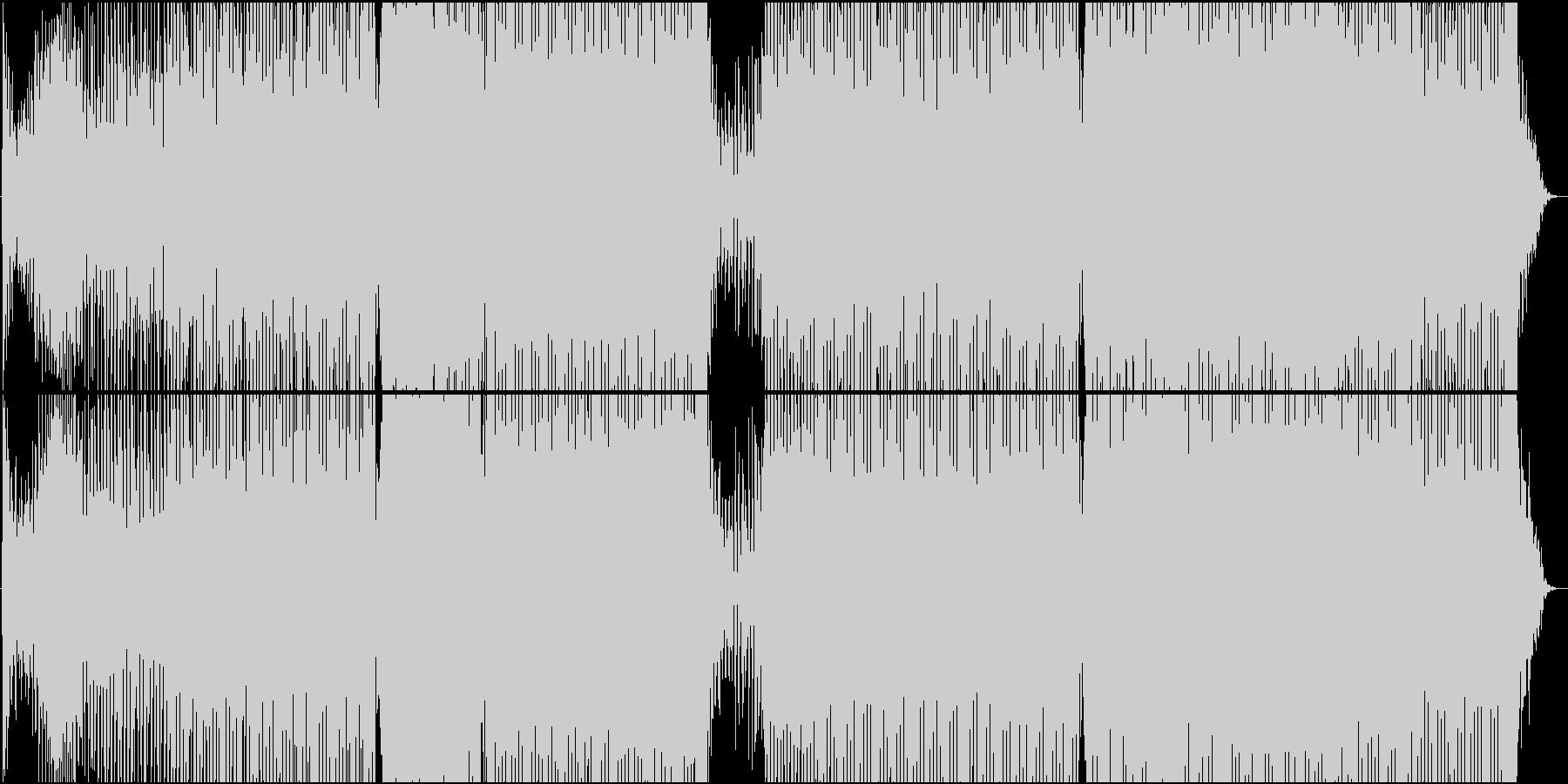 トロピカルシンセの速めのHOUSEですの未再生の波形